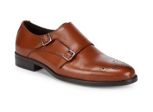 Saks Fifth Avenue Double-Monk Leather Dress Shoes