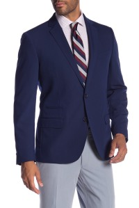 SAVILE ROW CO Avedon Blue Two Button Notch Lapel Slim Fit Bi-Stretch Jacket