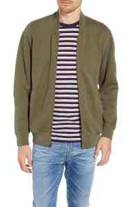 J. Crew French Terry Bomber Jacket